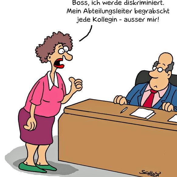 Cartoon Karikatur über Chefs und Manager